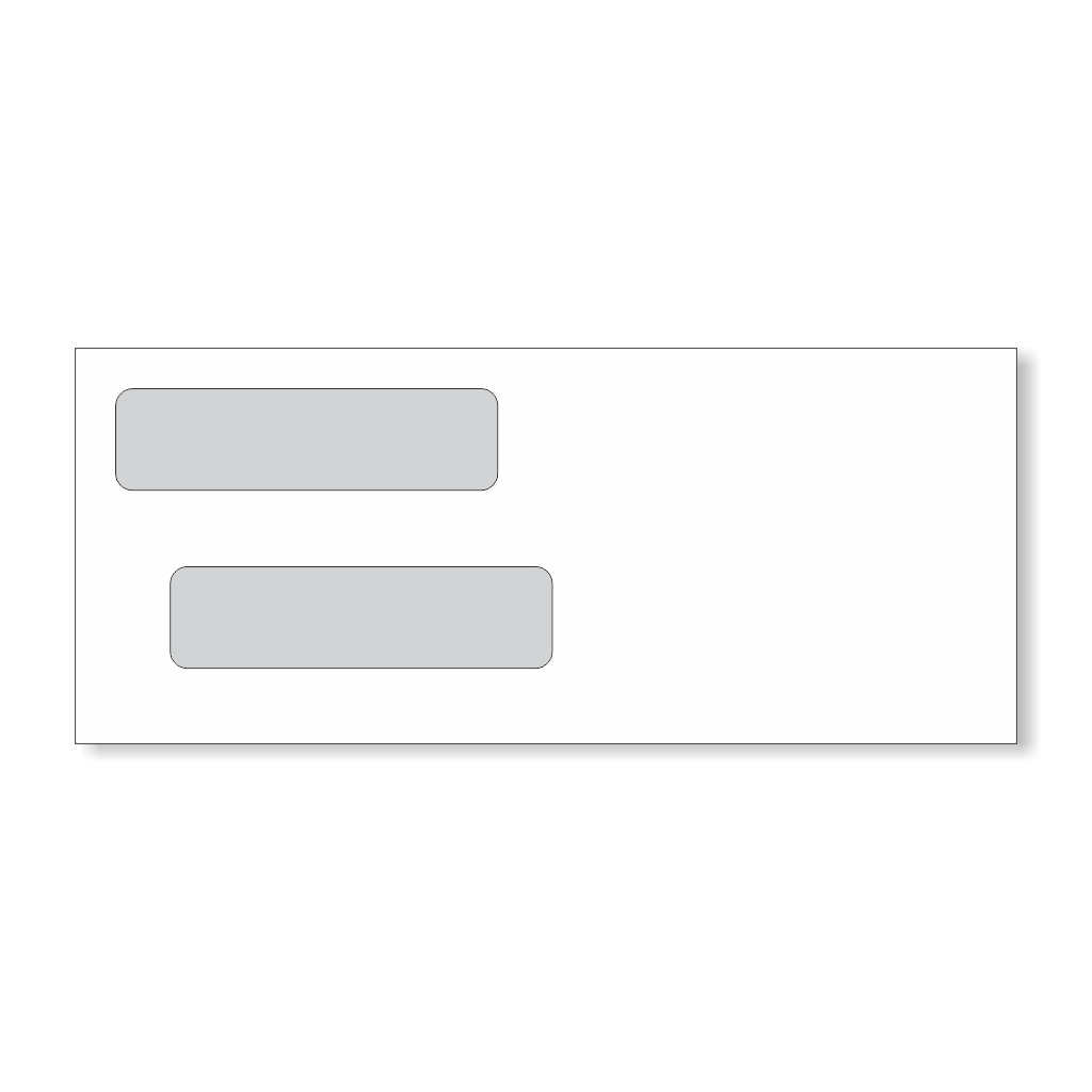 Business checks staples inc for Double window envelope template