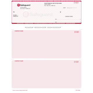 Safeguard Secure Laser Cheques - 2 Colours (red primary)