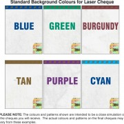 Supreme Cheques Background Colours
